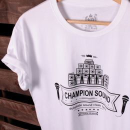 Tshirt Champion Sound | Dubplate Sound Clash Tune - biały