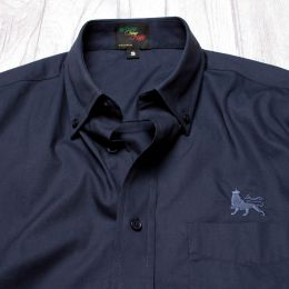 Casual shirt with Lion of Judah embroidery