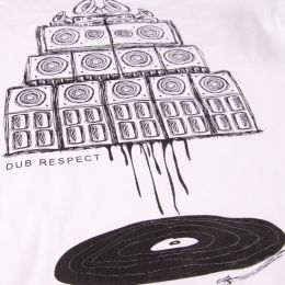 Vinyl & Sound System wall Maniac | white t shirt