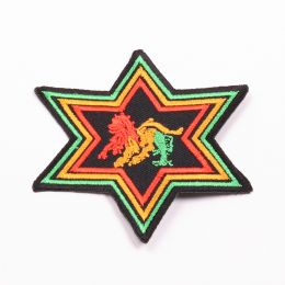 Lion of Judah - rasta star patch