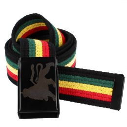Lion of Judah cotton belt - rasta