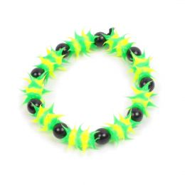 Jamaican colours glow in the dark bracelet