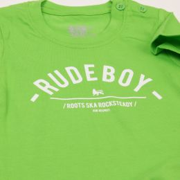 Baby tshirt | Rude Boy - lime