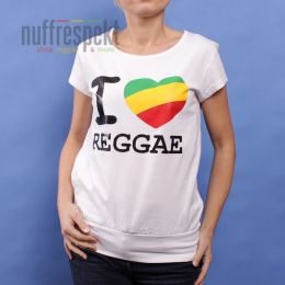 I Love Reggae ladies t-shirt - Irie Lion (white)