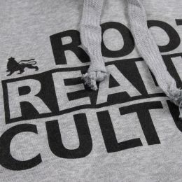 Bluza kangurka z kapturem | Roots Reality Culture - szary melanż