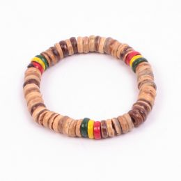Tube beaded  Rasta Bracelet