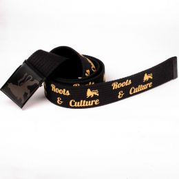 Pasek Roots & Culture Lion print - black