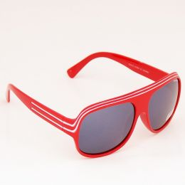 Modern aviator Sunglasses - red