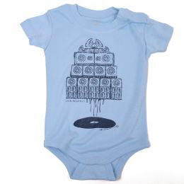 Short Sleeve Baby Body |  Vinyl & Sound System - blue