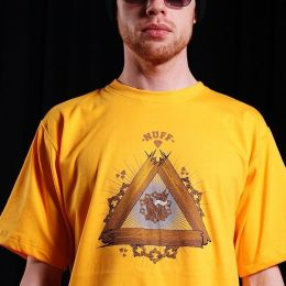 Tshirt- Nuff Wear - Wood & Chain 00513 - yellow