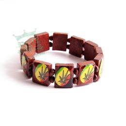 Brown Wooden Bracelet - ganja