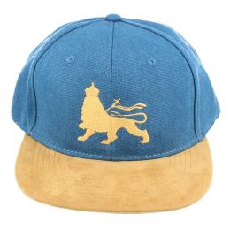 Czapka Snapback Lion of Judah |  Blue & Camel