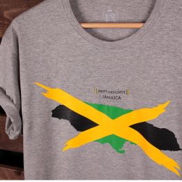 Tshirt Jamaica - Unity and Livity | szary