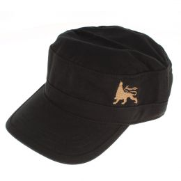 Army flat cap Lion of Judah | black