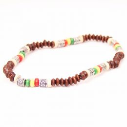 Brown beads + rasta elements #4