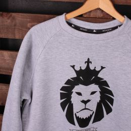 Strictly Roots | Dub Lion gray crewneck