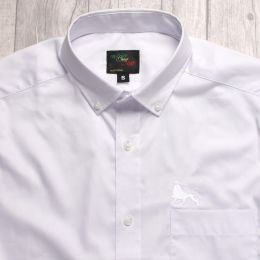 White shirt with Lion of Judah embroidery