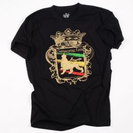 Tshirt Conquering Lion shall break every chain - czarny