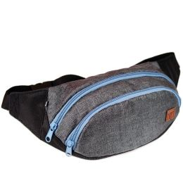 Nuff wear Waist Pack - gray & blue