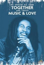 Bob Marley - Music and love poster - PP33388
