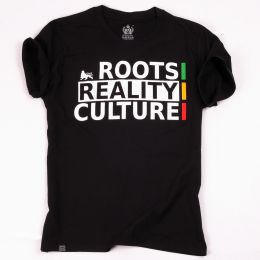T-shirt Roots Reality Culture | czarny