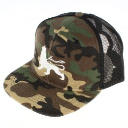 Lion of Judah trucker cap | Camo & Black