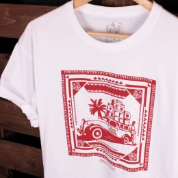 T-shirt Run The Track - Roots Shack | biały