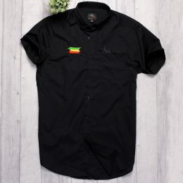 Short Sleeve shirt Rasta Flag and Lion