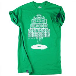 Vinyl & Sound System wall Maniac | green t-shirt