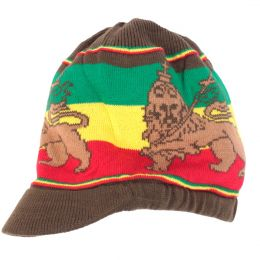 Rasta Dread hat - Lion of Judah | olive and Rasta