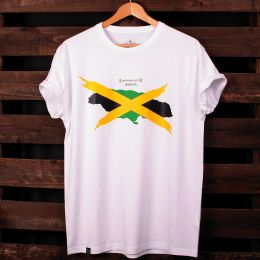 Tshirt Jamaica - Unity and Livity | biały