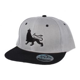 Czapka Snapback Lion | Gray & Black