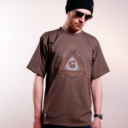 Tshirt - Nuff Wear - Wood & Chain 00513 - brown