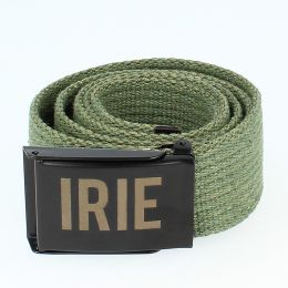 IRIE cotton olive belt