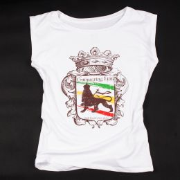 Ladies t-shirt - Conquering Lion shall break every chain