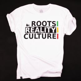 T-shirt Roots Reality Culture | biały