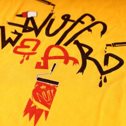 Tshirt- Nuff Wear - Graffiti - yellow