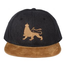 Lion of Judah snapback cap |  Black Ash & Camel