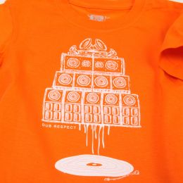 Baby tshirt | Vinyl & Sound System - orange