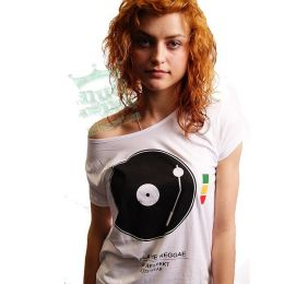 Koszulka damska DJ! Play The Reggae - Nuff Respekt Roots Wear