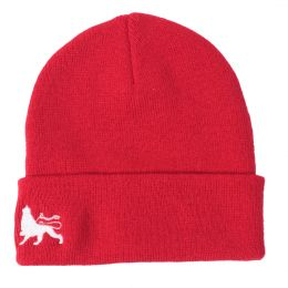 Fisherman winter hat  Docker cap Lion of Judah  | red