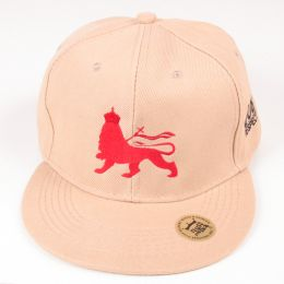 Lion of Judah snapback cap - Beige