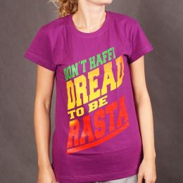 Damski tshirt Don't Haffi Dread To be Rasta - fiolet