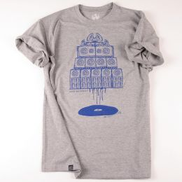 Vinyl & Sound System wall Maniac | gray t shirt