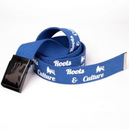 Roots & Culture Lion print belt - blue