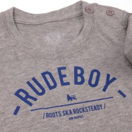 Baby tshirt | Rude Boy - gray