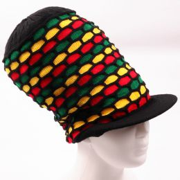Rasta Pattern Dreadlock hat