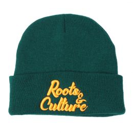Fisherman winter hat  Docker cap Roots and Culture | green