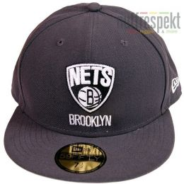 New Era Full Cap Brooklyn Nets Basic NBA Graph/Grey