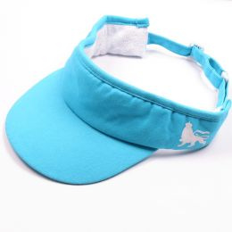 Cotton Twill Visor - Lion of Judah - blue